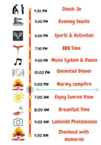 Pawna Camping schedule